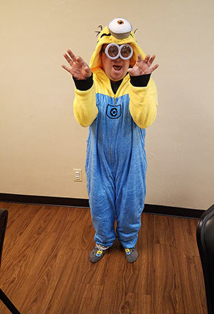 Ability member dressed as a minion from Despicable Me